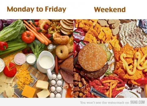 Darbo dienos ir savaitgaliai:)